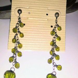 Lori Lori emerald green Swarovski Crystal earrings